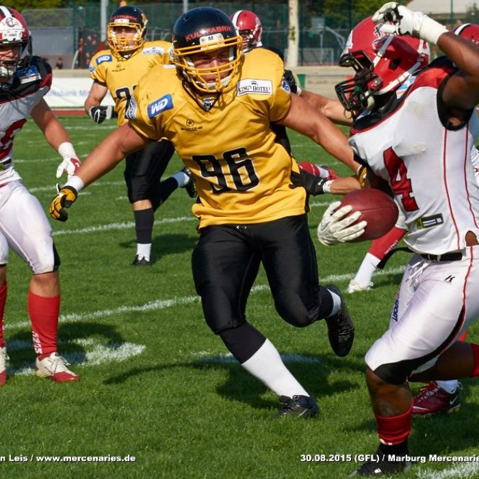 30.08.2015 - Marburg Mercenaries vs. Munich Cowboys (GFL)